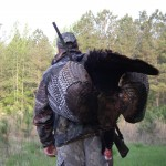 bobby with harry's turkey that he shot